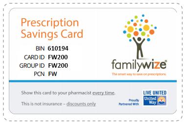 FamilyWize Prescription Savings Card