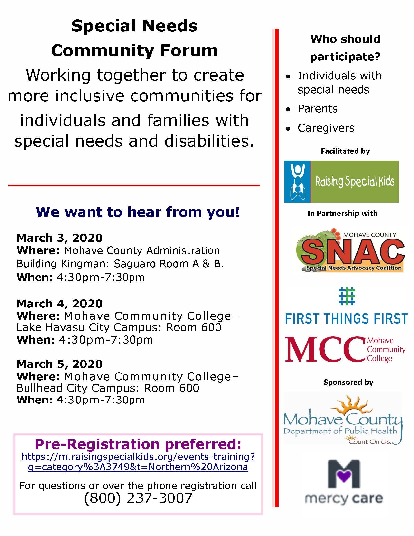 Special Needs Community Forum